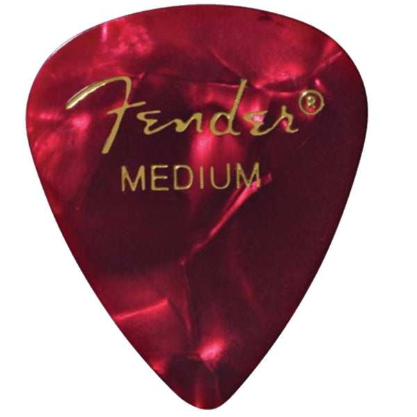 Fender Premium Celluloid Guitar Picks (12 Pack) - Medium, Classic Shell