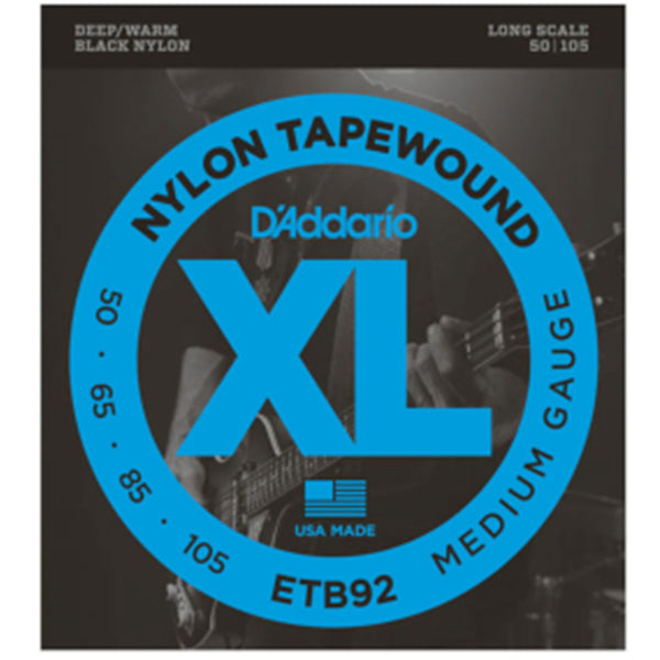 D'Addario ETB92 Tapewound Bass Guitar Strings Long Scale - 50-105