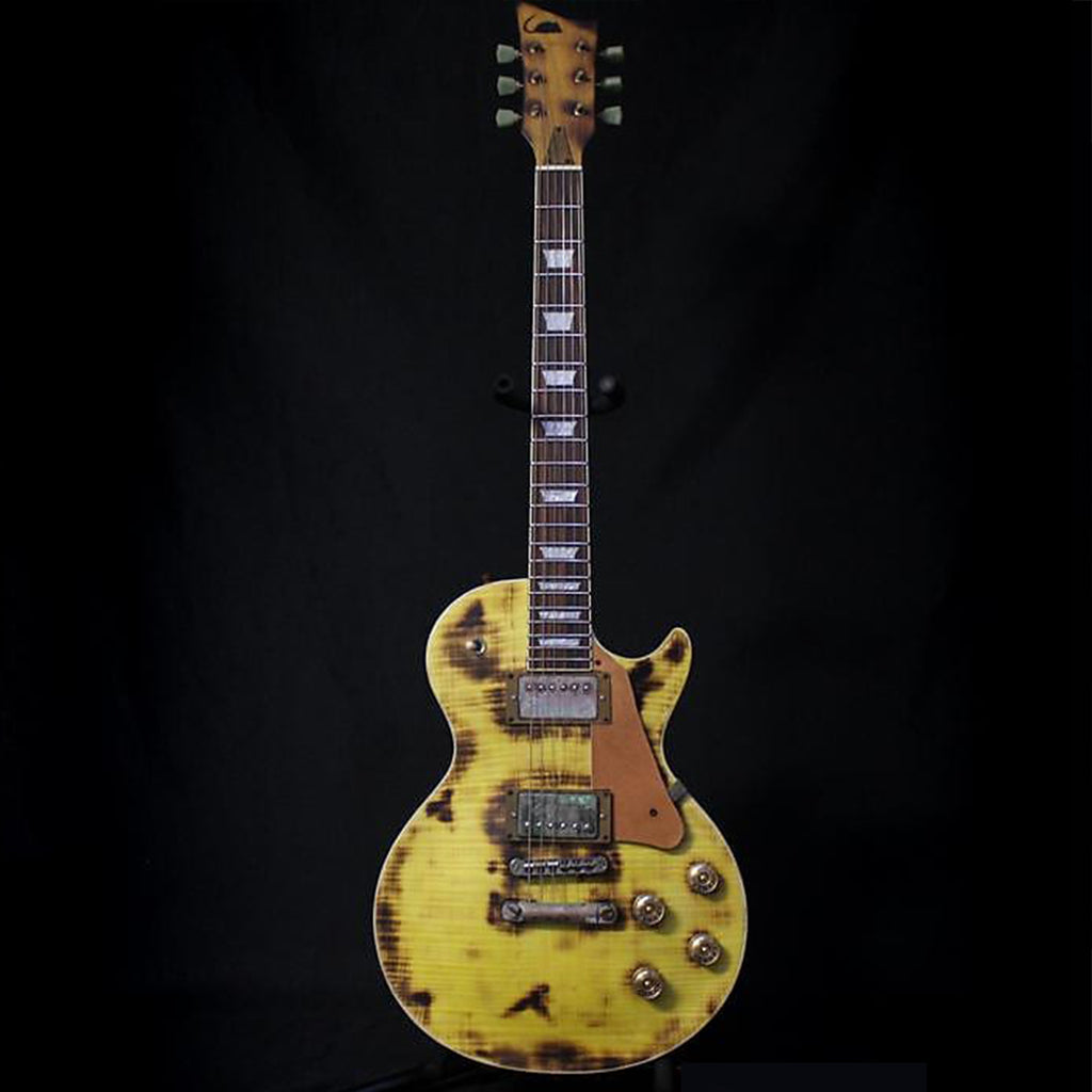 Ratfiddle Custom Built Burned and Rusted LP-Style Electric Guitar