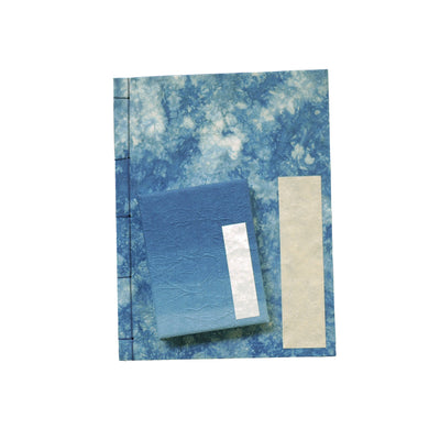 Hand-dyed Japanese Washi Paper Notebooks (Set Of 2)
