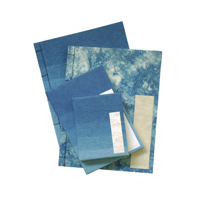 Hand-dyed Japanese Washi Paper Notebooks (Set of 4)