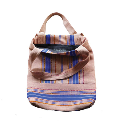 Burmese Tote Bag (Blush + Blue)