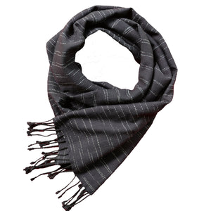 BLACK ABSTRACT STOLE