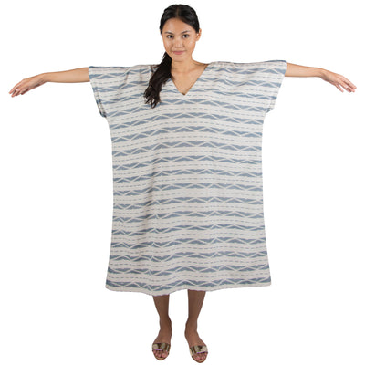 Silk/Cotton Ikat Kaftan Dress