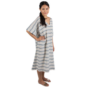 SILK COTTON BLEND IKAT KAFTAN