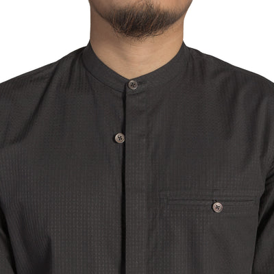 Men's Granddad Collar Shirt