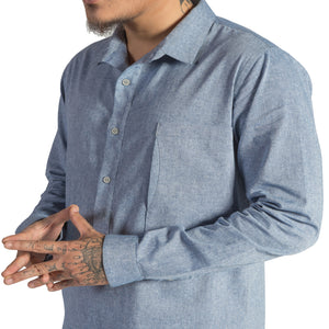 MEN'S HALF PLACKET SHIRT