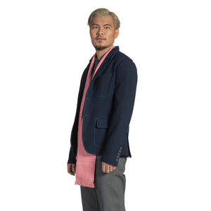 MEN'S TAILORED INDIGO JACKET