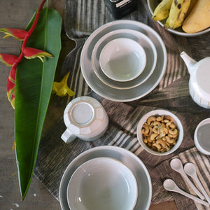 Milk White Nesting Bowl Set
