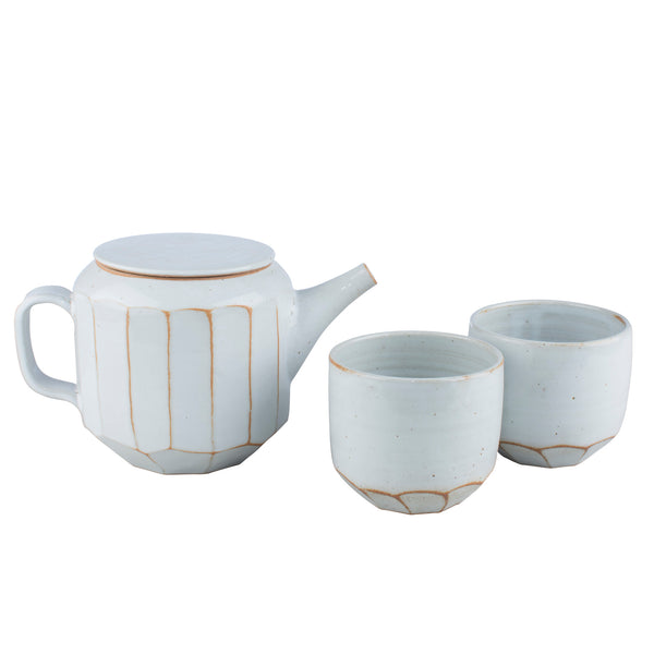 Milk White Tea Set