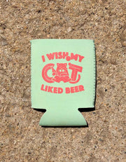 Beer Cat Beer Sweater - Mint