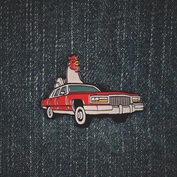 Chicken Cadillac Pin