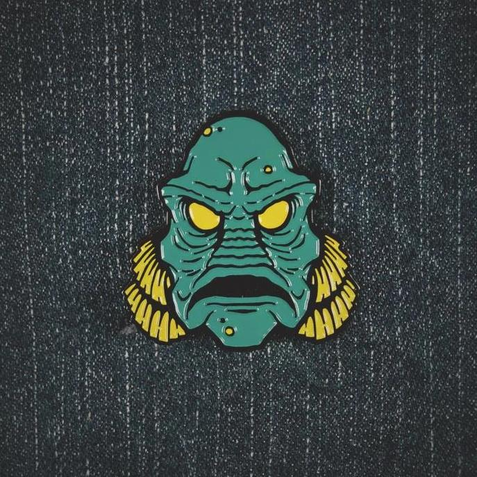 Hollow-Eyed Creature Pin