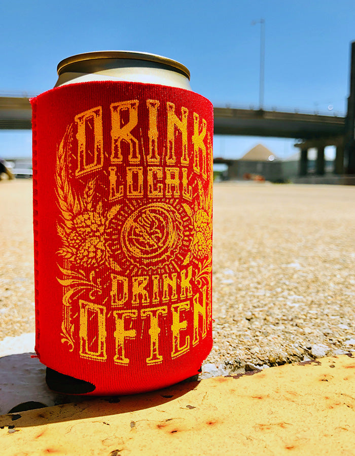 Drink Local Beer Sweater - Red