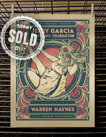 Jerry Garcia Symphonic Celebration | Gold Test Print