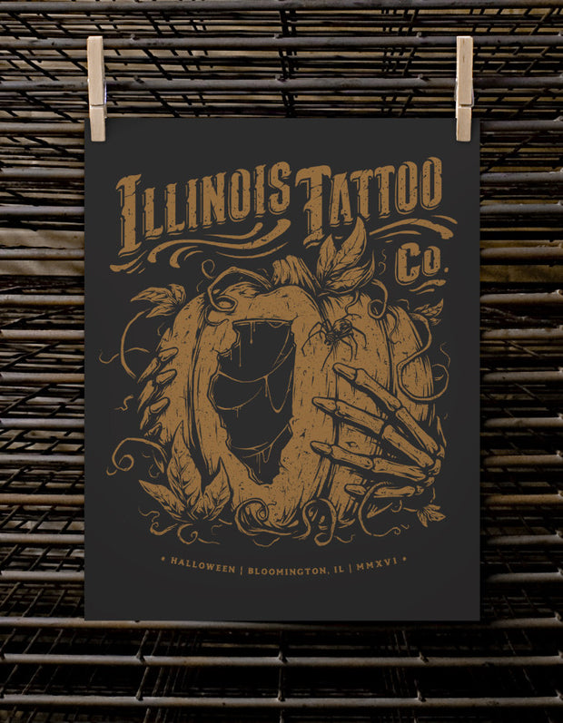 Illinois Tattoo Co. Pumpkin