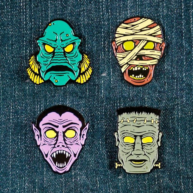 Hollow-Eyed Dracula Pin