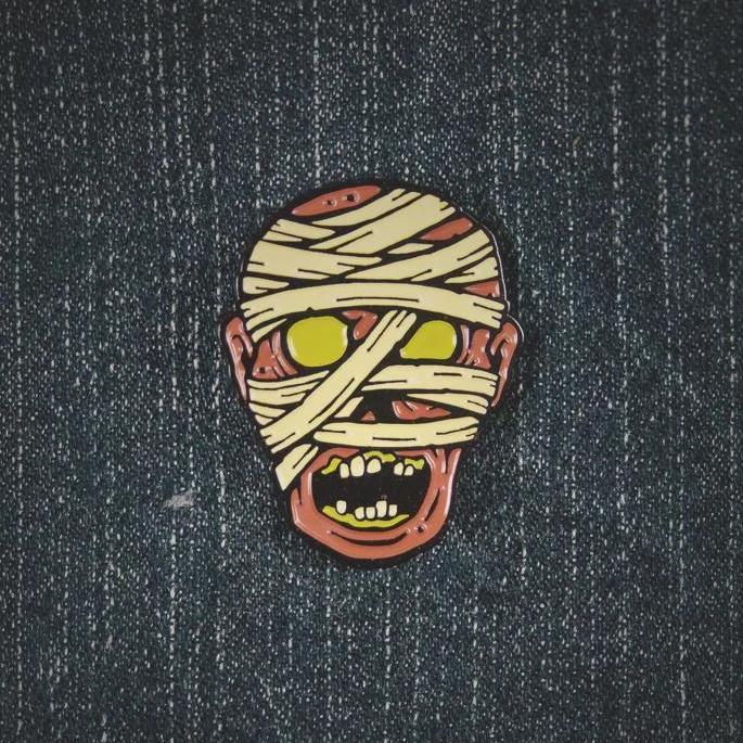 Hollow-Eyed Mummy Pin