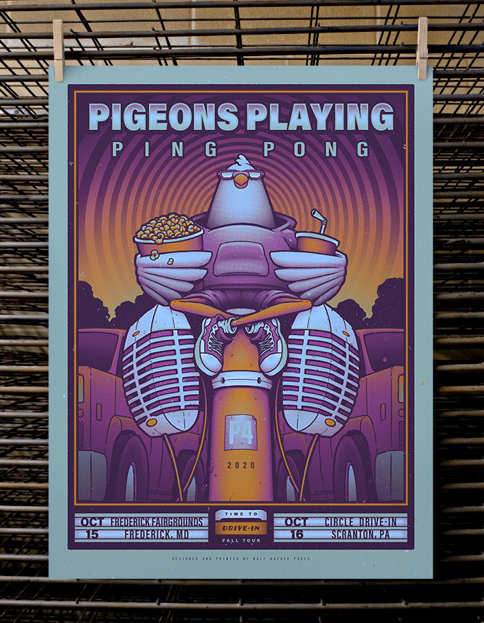 Pigeons Playing Ping Pong | Blue Variant