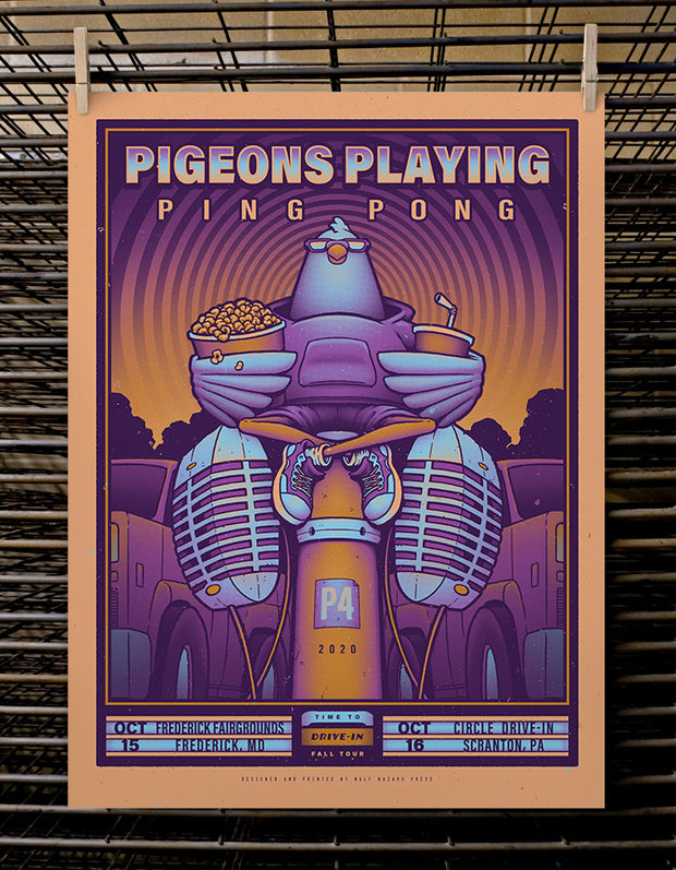 Pigeons Playing Ping Pong | Dusk Variant