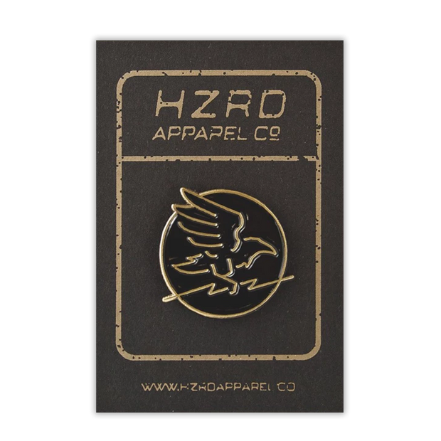 HZRD Gold Crow Pin