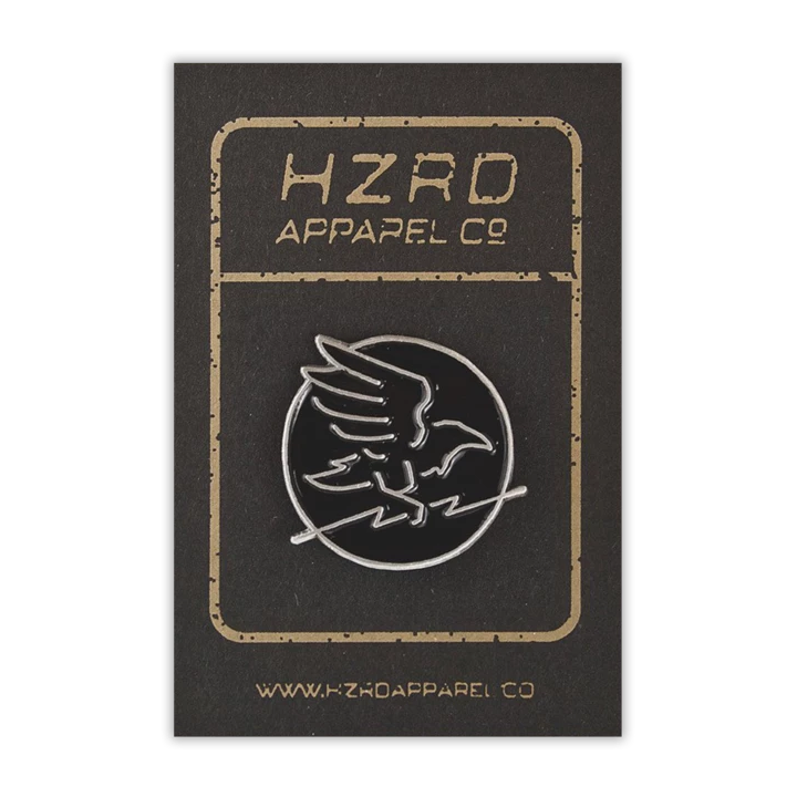 HZRD Silver Crow Pin