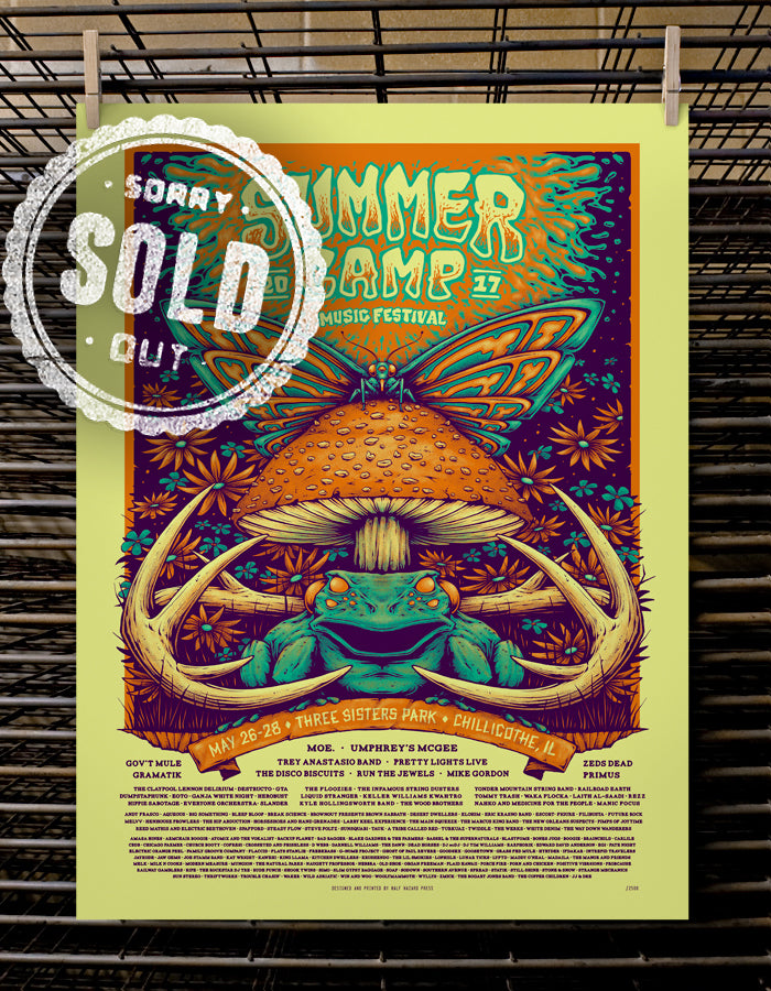 SCAMP Music Festival | VIP 2017 Psychedelic Toad Variant
