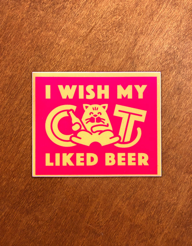 Beer Cat Sticker