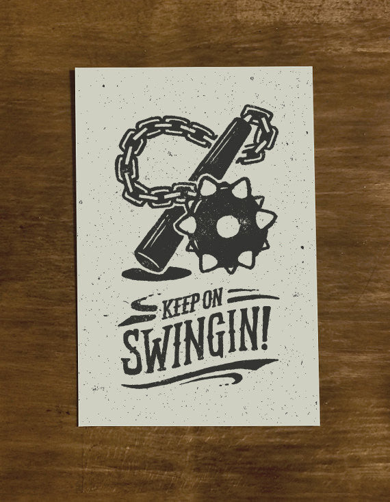 Keep On Swingin' | Greeting Card