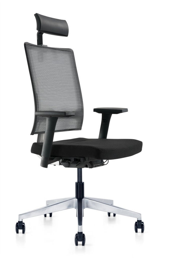 Meelano M2 High Back Office Chair in Black