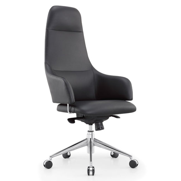 Meelano M30 High Back Executive Managerial Office Chair in Vegan Leather