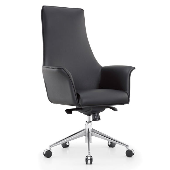 Meelano M32 High Back Executive Managerial Office Chair in Vegan Leather