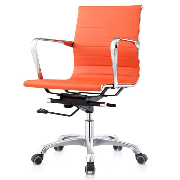 Meelano M505 Ribbed Mid Back Executive Office Chair