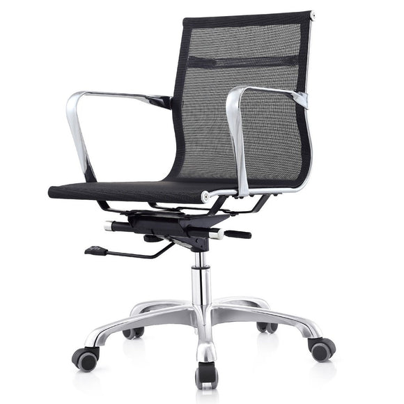 Meelano MC506 Mid Back Executive Office Chair in Black Mesh