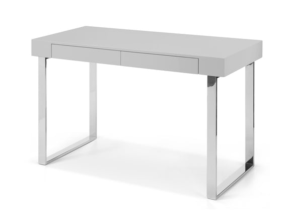 Whiteline Alaska Desk in High Gloss White