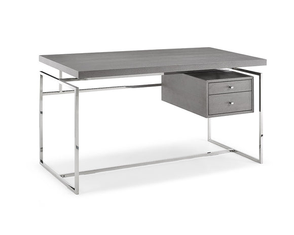 Whiteline Harlow Desk in Gray Oak