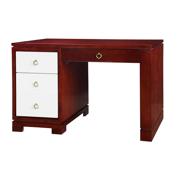 Bungalow 5 Brooke Desk w/ Bronze Pulls, Golden Mahogany