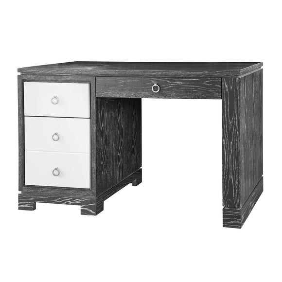 Bungalow 5 Brooke Desk w/ Chrome Pulls, Gray