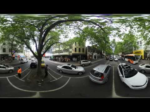 Nikon KeyMission 360 4k Sample Video from Lonsdale St in Melbourne