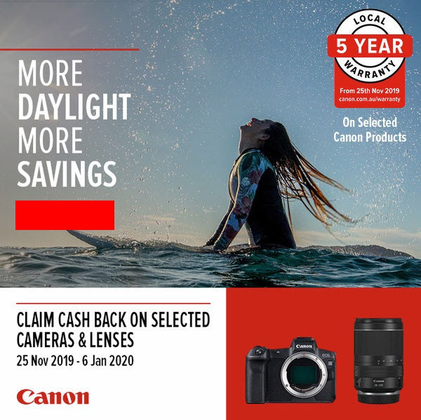 Canon Cash Backs On Selected Canon Cameras and Canon Lenses