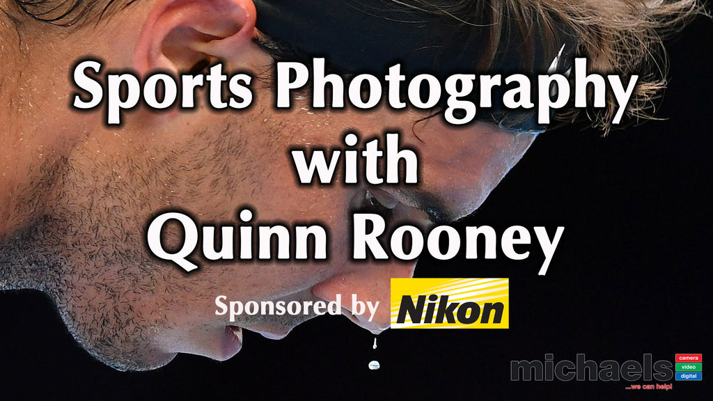 Sports Photography Tips with Press Photographer Seminar with  Quinn Rooney of Getty Images @ michaels