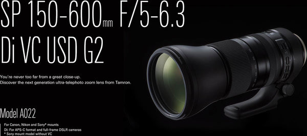 The New Tamron 150-600mm G2 Zoom Lens is Coming Soon