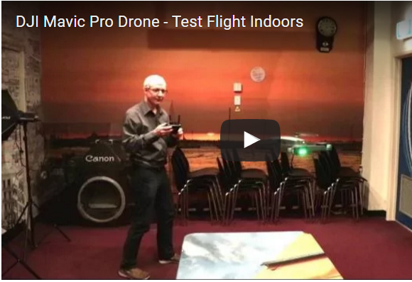 DJI Mavic Pro - Indoor Flight Preview Video