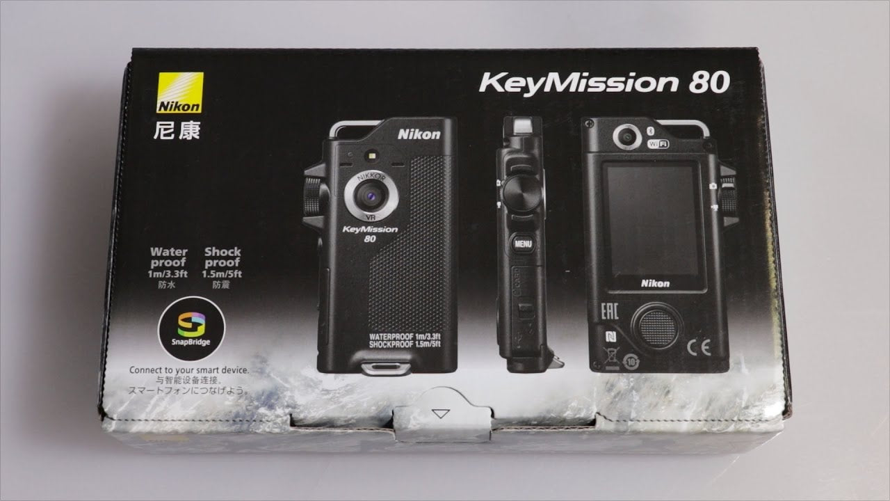Nikon KeyMission 80 Unboxing