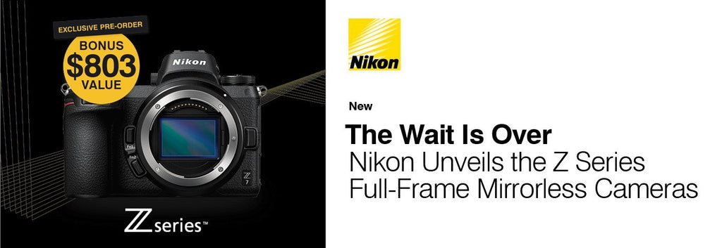 The new Nikon Z mount system, and two full-frame mirrorless cameras: the Nikon Z 7 and Nikon Z 6