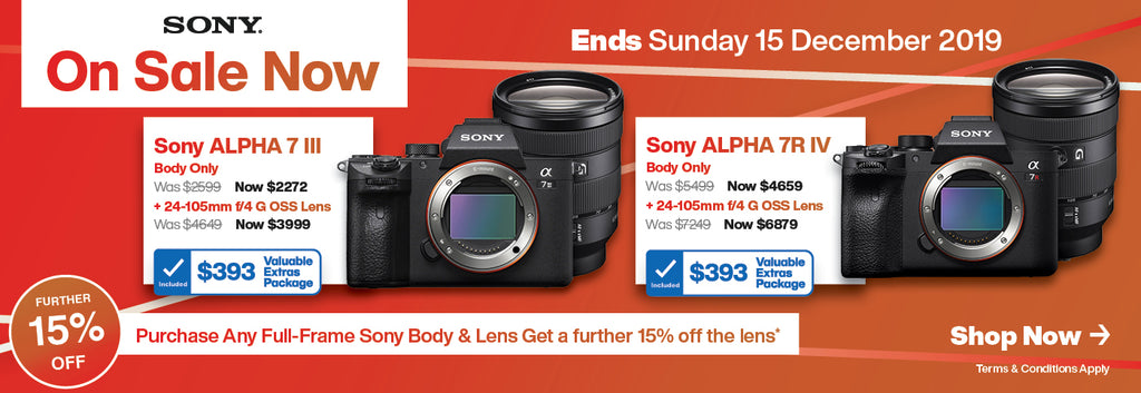 Sony a7III and a7R IV On Sale Now