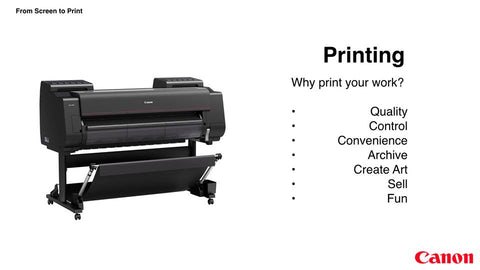 Why print your work