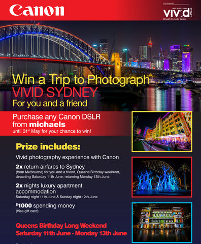 Purchase Any Canon DSLR Camera From Michaels Until 31st May 2016