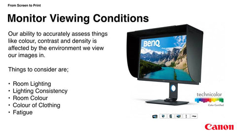 Monitor viewing conditions
