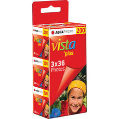 AGFAPhoto Vista+ 200 ISO 135/36 Exp 3pack Roll Film